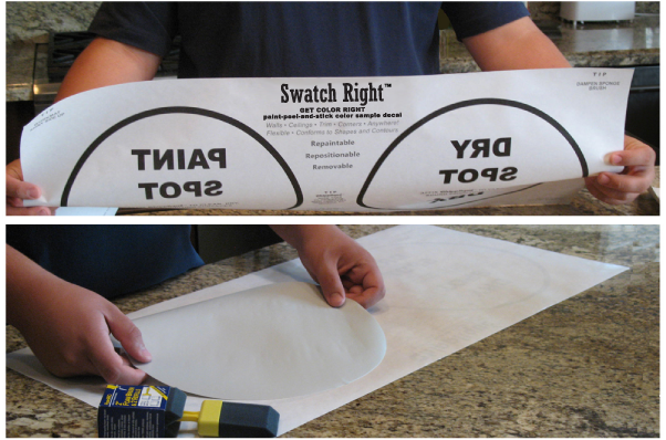 Swatch Right™ Paint Color Sample Work Mat