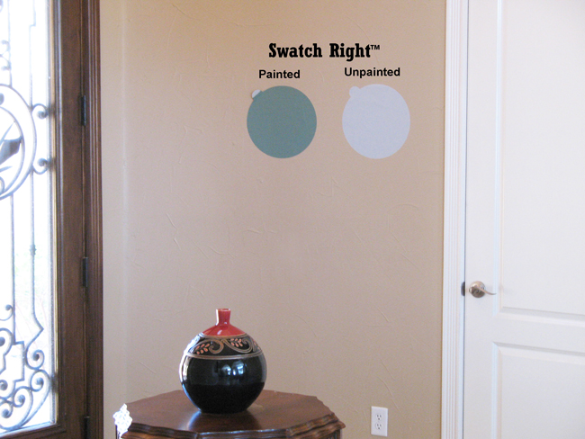 See color with YOUR wall's texture - not a sample board's.
