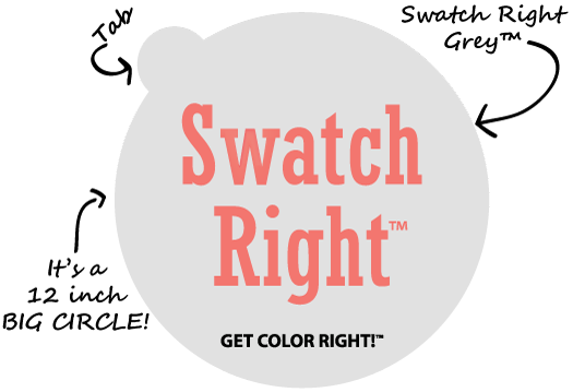 Swatch Right Paint-Peel-and-Stick Paint Color Sample Decal