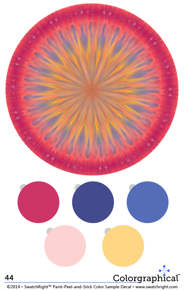 Color Inspiration 44 Full Spectrum Paint Palette from Swatch Right